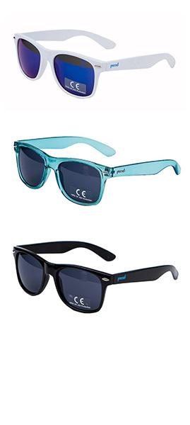 Белые, бирюзовые и черные очки