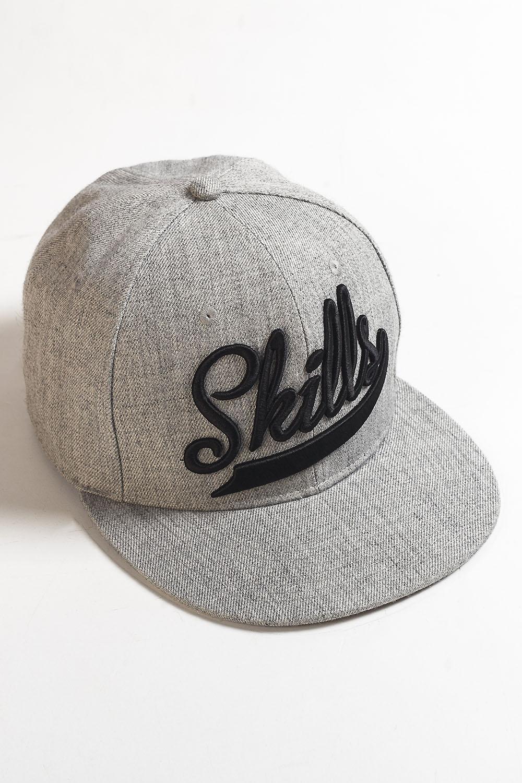 Бейсболка SKILLS Skills-01 (Серый (Grey Melange), O/S)