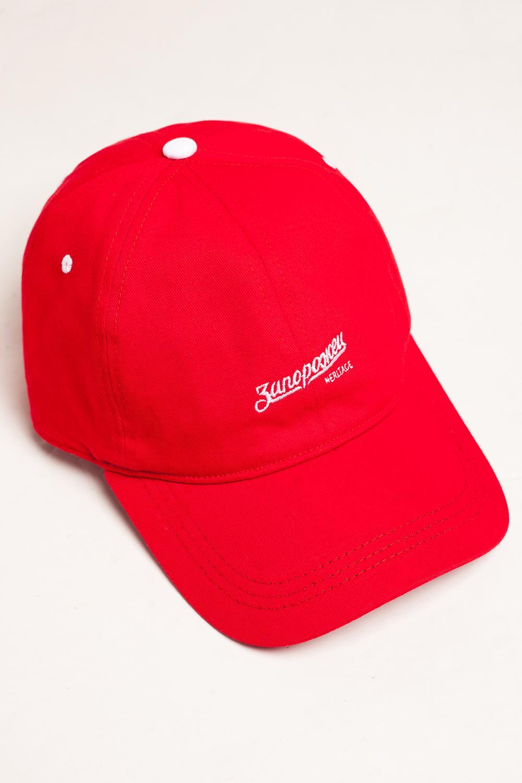 Бейсболка ЗАПОРОЖЕЦ Logo 2 (Красный (Red), O/S)