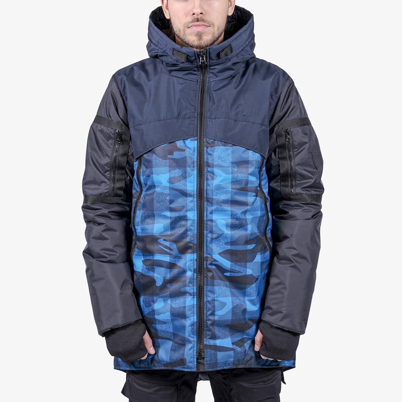 Куртка IGAN ID0509-1 синий камуфляж