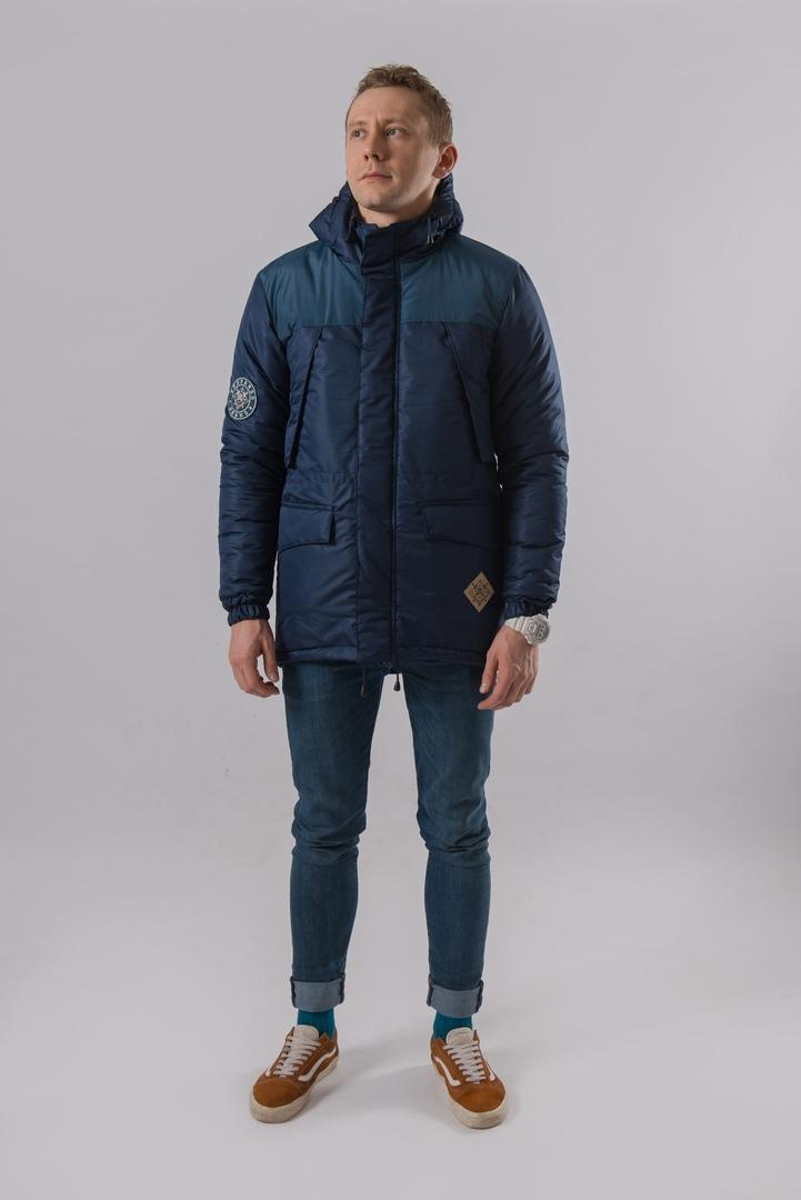 Парка SKFN OUTDOOR JACKET (синяя)