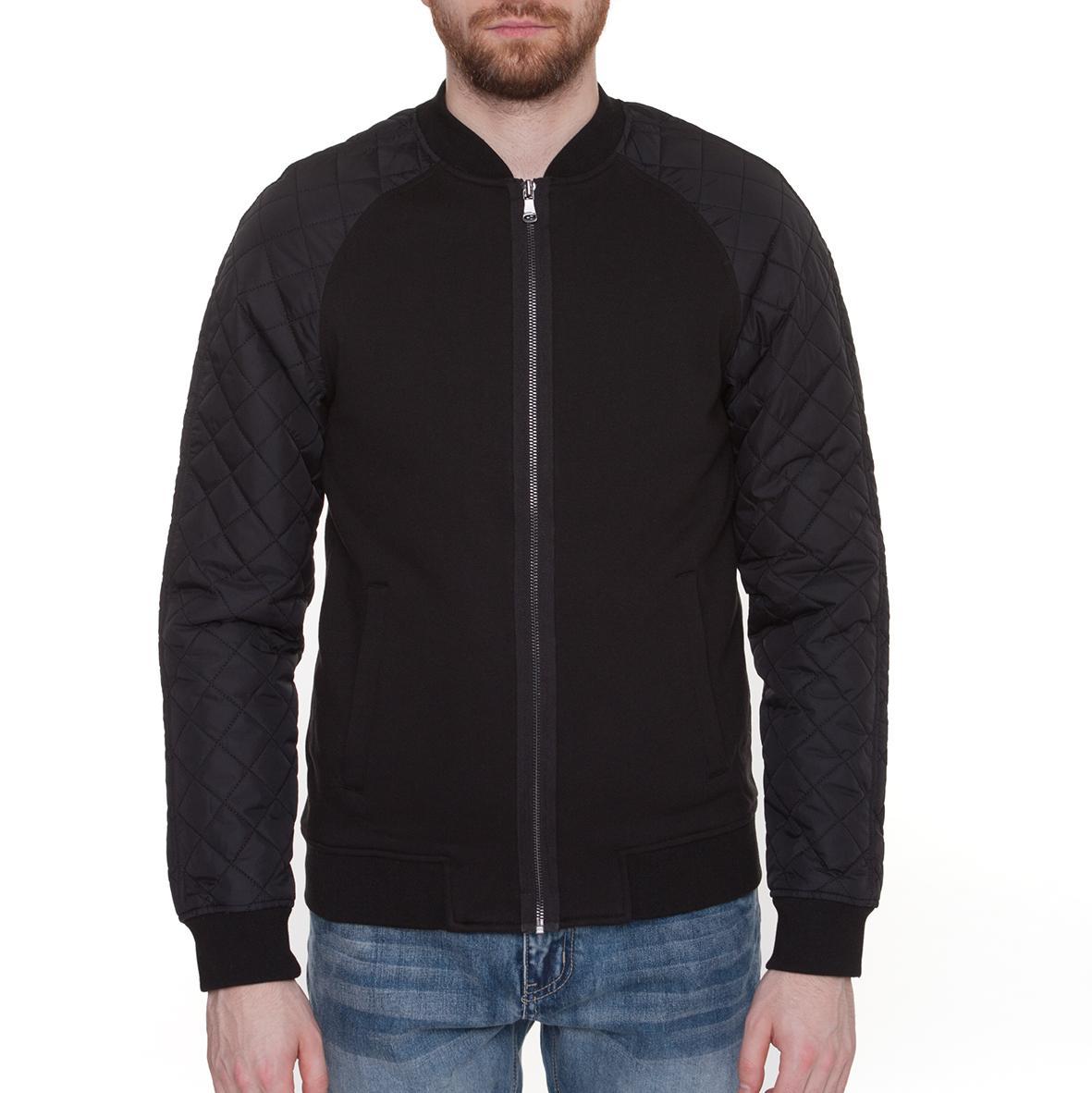 Куртка URBAN CLASSICS Diamond Nylon Sweatjacket (Черный)