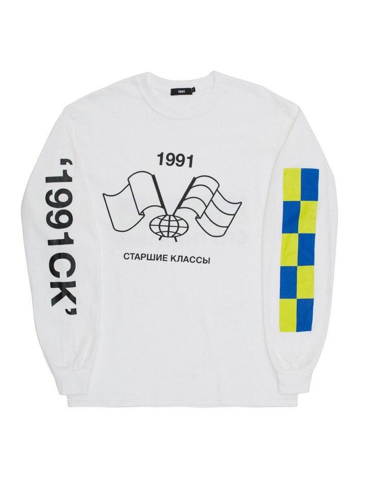 Лонгслив Спутник 1985 LS7 белый