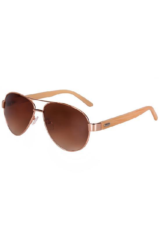 Очки / Woody / 2040-2 Аviator / коричневый с коричневыми линзами