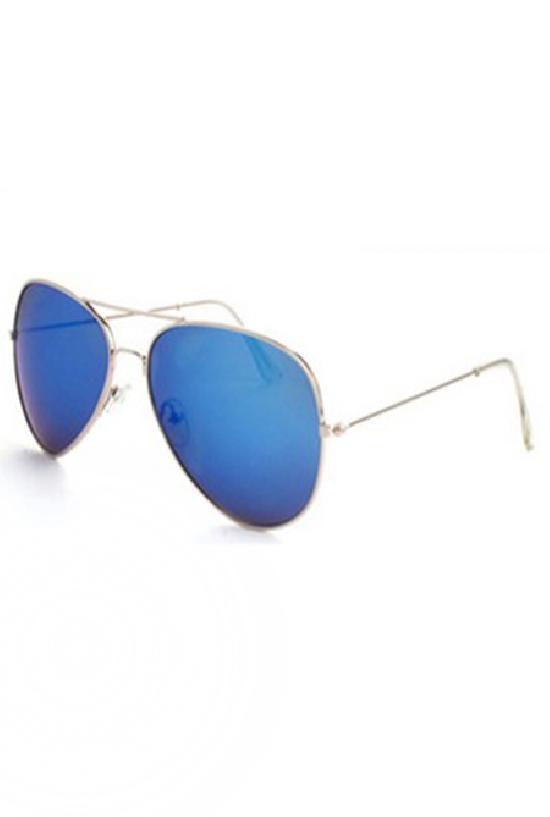 Очки / Police / C-4 Security / серебряный с голубыми линзами