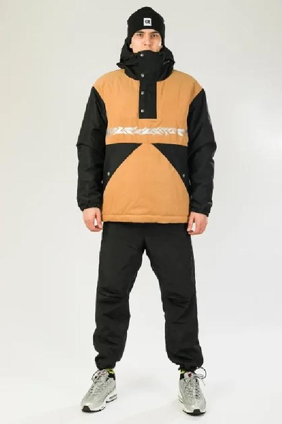 Куртка-Анорак зимняя Superblaster 2001 Черный/Песочный Светлый
