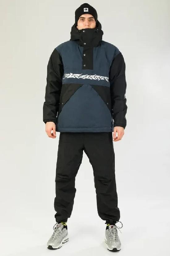 Куртка-Анорак зимняя Superblaster 2001 Черный/Синий Темный