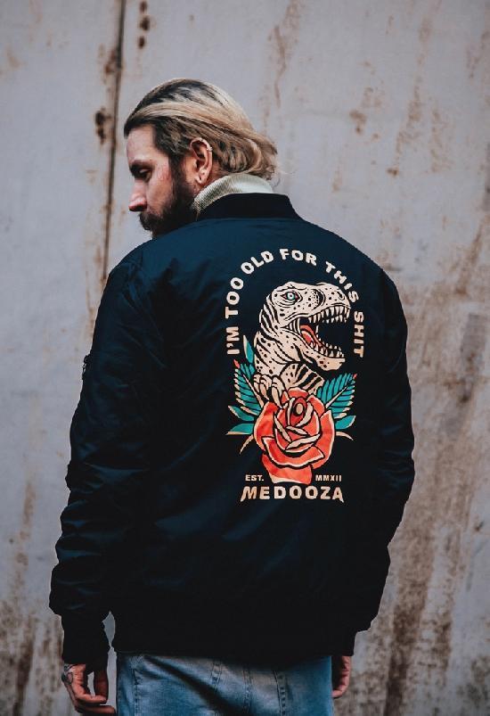 Бомбер MEDOOZA (Dinosaur) чёрный