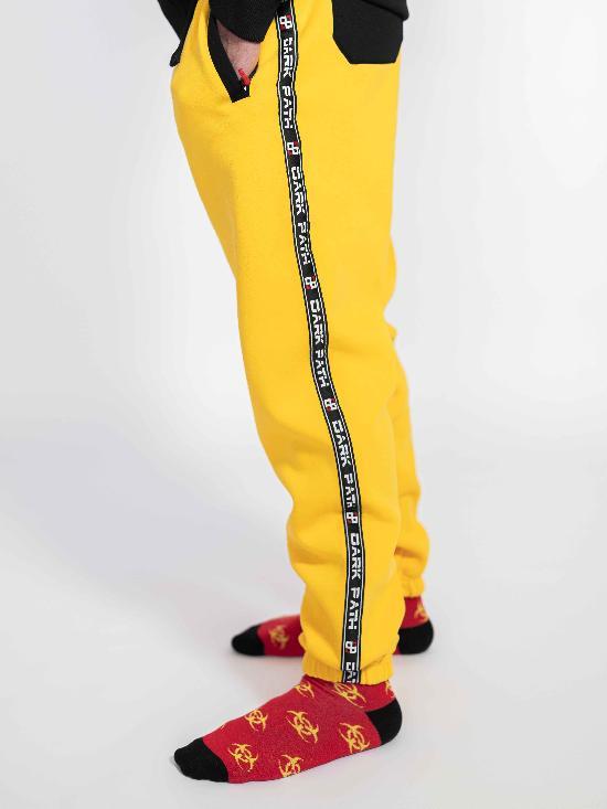 Брюки / DARK PATH / DP-Б004-20 / начёс / жёлтый-чёрный