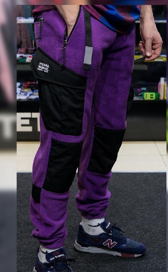 НПОГП карго джоггеры Визуал Вандал М2+ (Фиолетовый  флис)