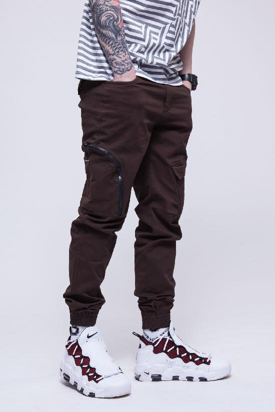 Брюки SKILLS Asymmetric Pants (Коричневый (Brown)