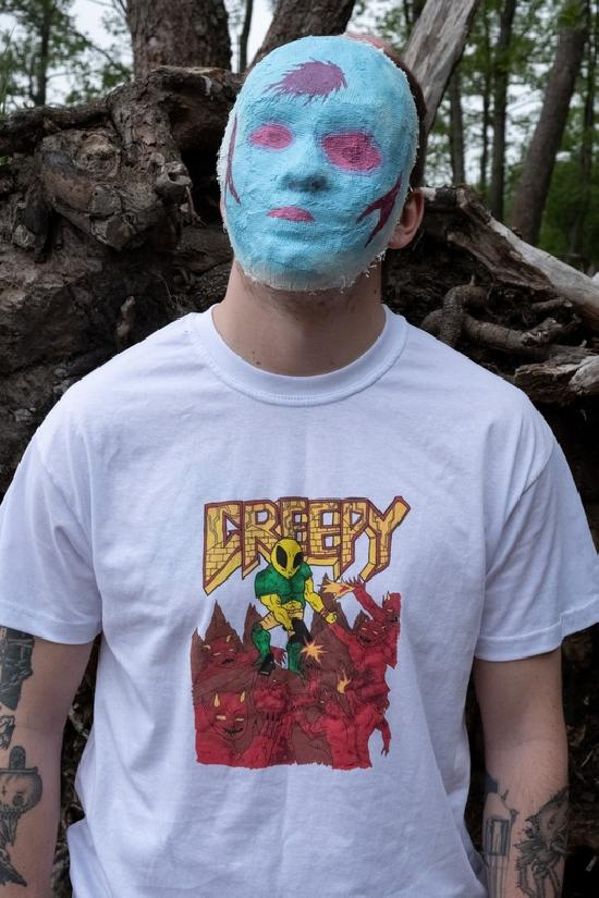 футболка белая doom