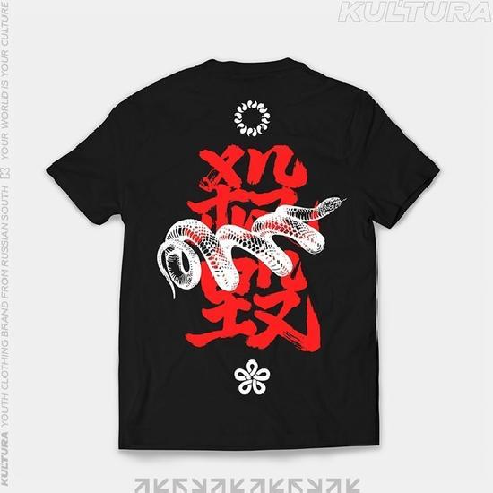 Футболка КУЛЬТУРА Tokyo snake, черный