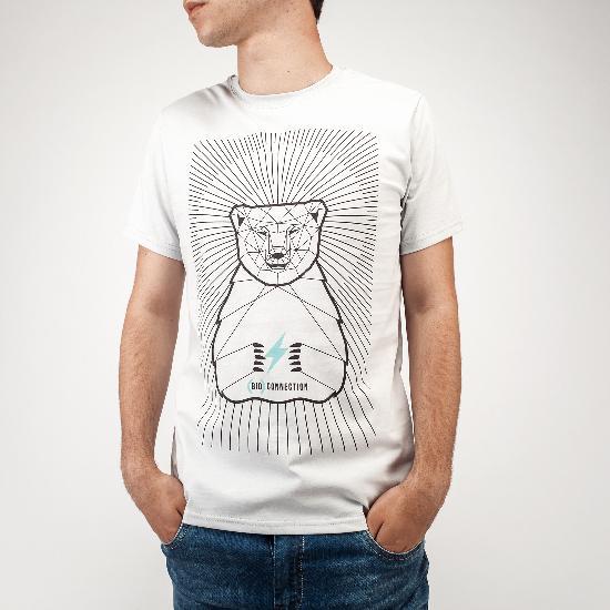 Футболка BO-2513 Медведь (Пепельный)