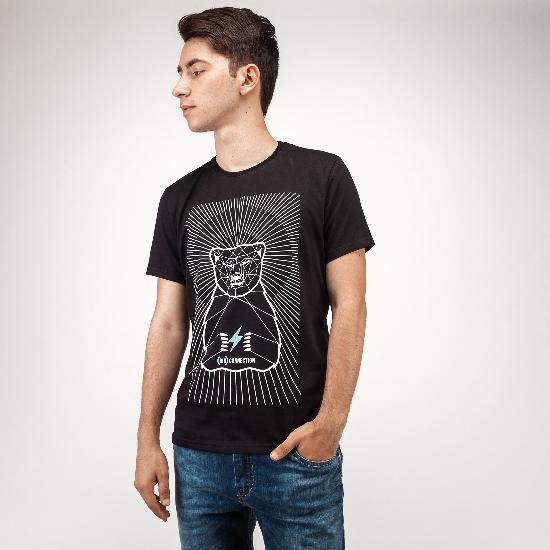 Футболка BO-2513 Медведь (черный)
