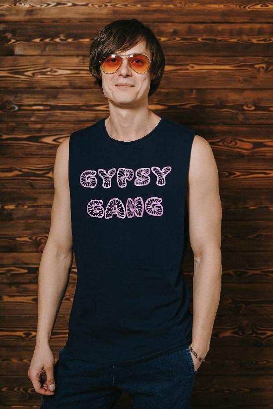 Майка Gypsy Gang Тёмно-синяя