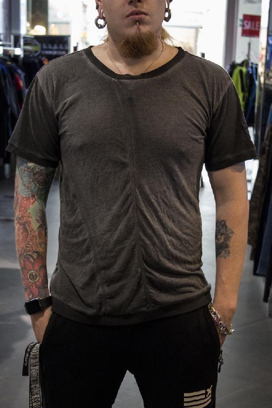 футболка IGAN (серая крашенная, манжет) M№0106