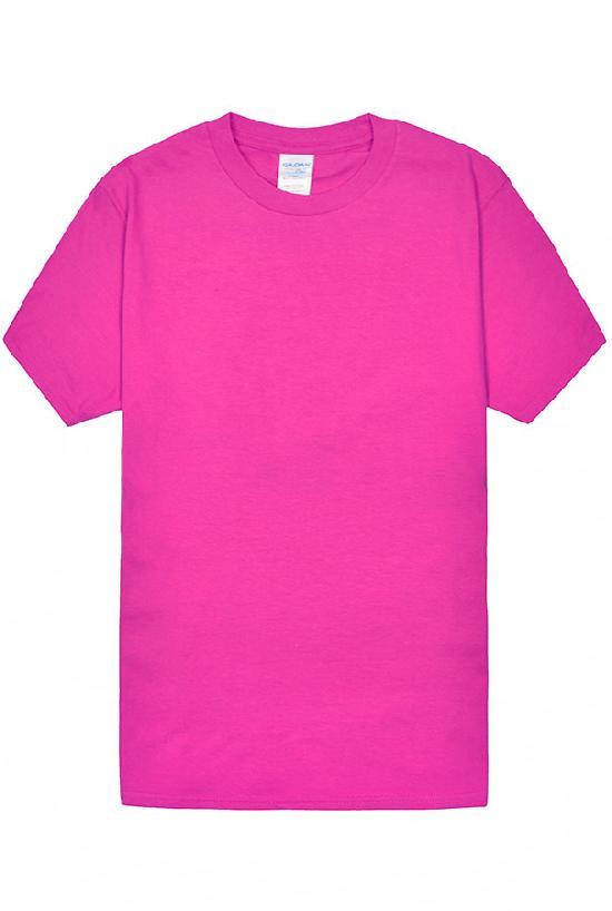 Футболка мужская / Gildan / 63000/ ярко-розовый