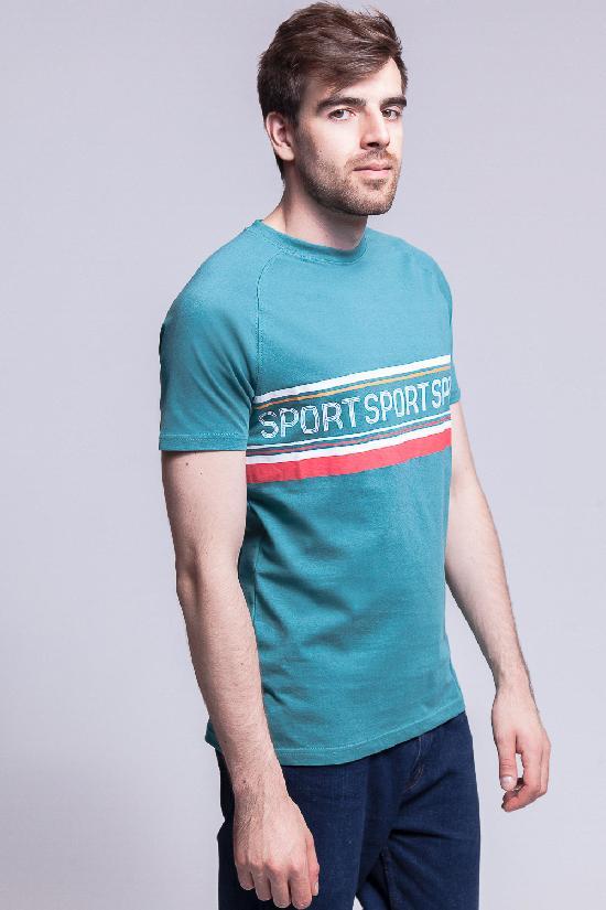 Футболка ЗАПОРОЖЕЦ Sport 1 (Зеленый (Teal Green)