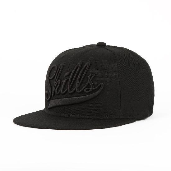 Бейсболка SKILLS 01 (Черный (Black/Black), O/S)