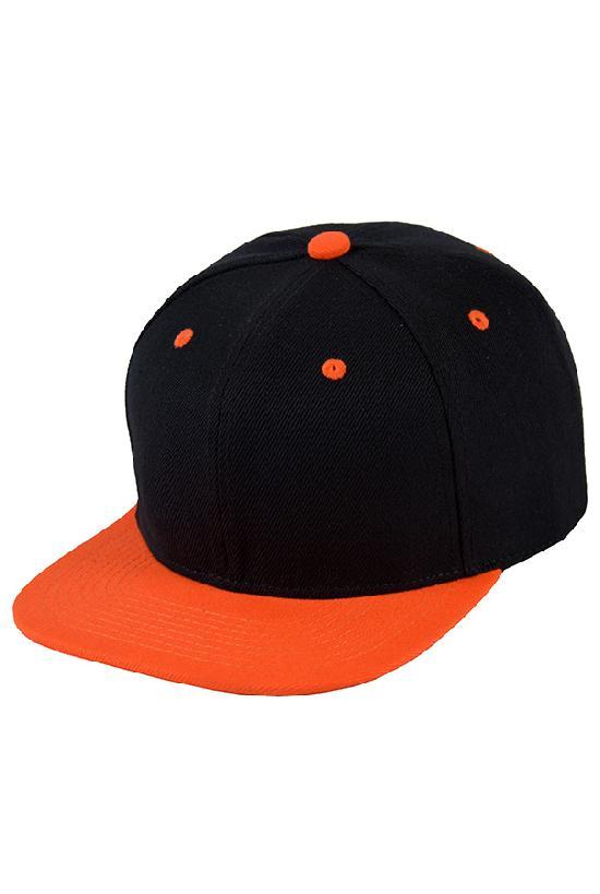 Бейсболка / Street Caps /6 / чёрный с оранжевым (One size)