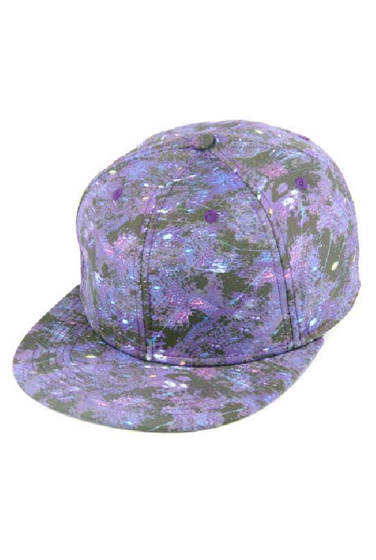 Бейсболка / Your Number /Космический принт / чёрно-фиолетовый