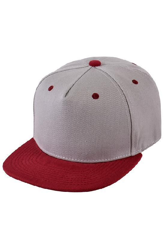 Бейсболка / Street Caps /5/серый с бордовым козырьком