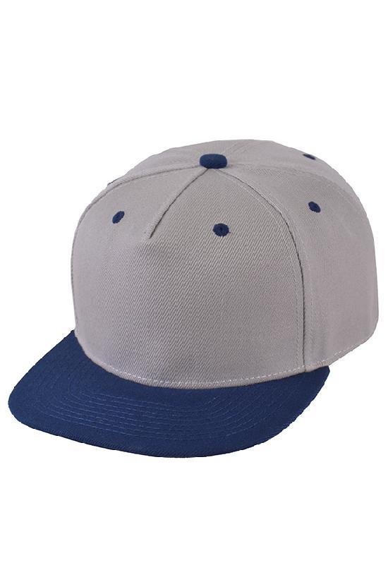 Бейсболка / Street Caps /5серый с тёмно-синим козырьком