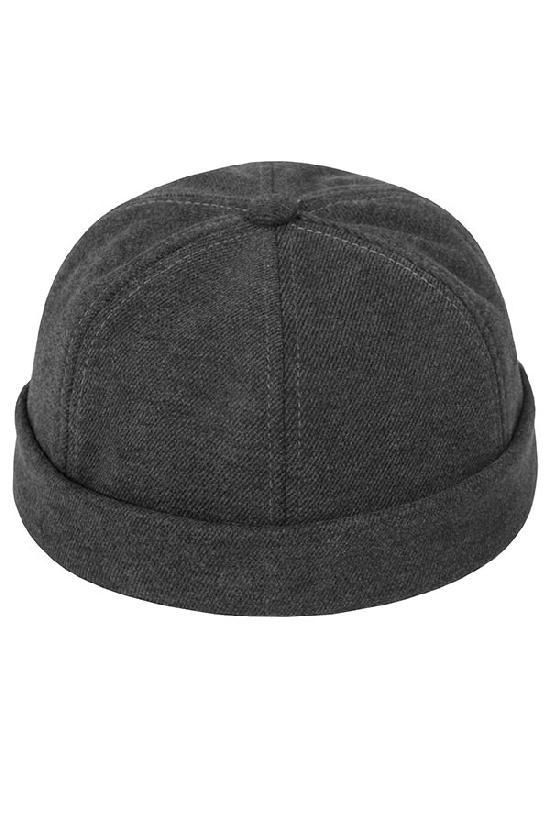 Бейсболка без козырька / Your Number / Brimless hat / тёмно-серый