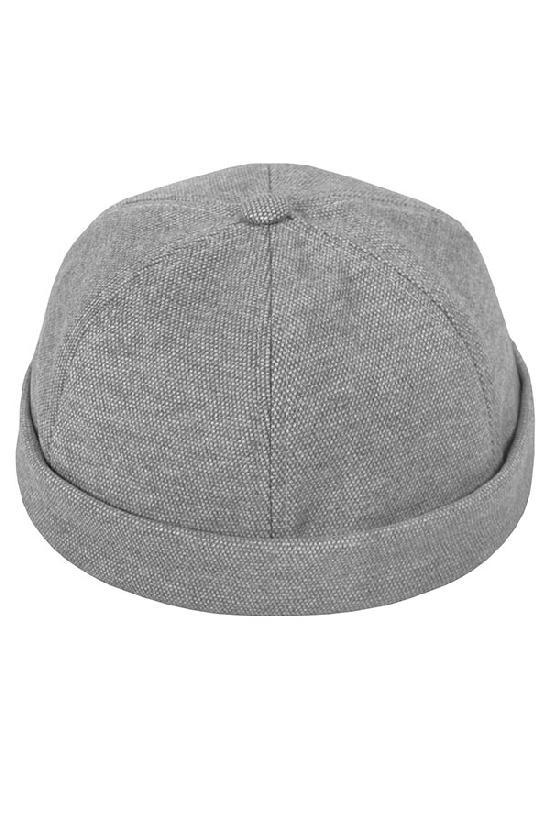 Бейсболка без козырька / Your Number / Brimless hat / светло-серый