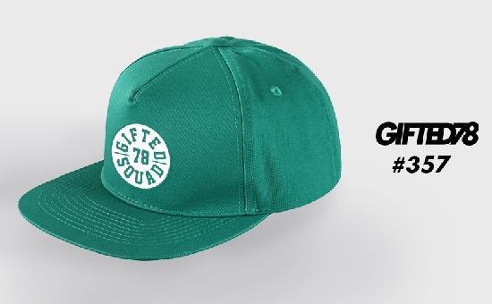 Бейсболка GIFTED SS19/357 зеленый