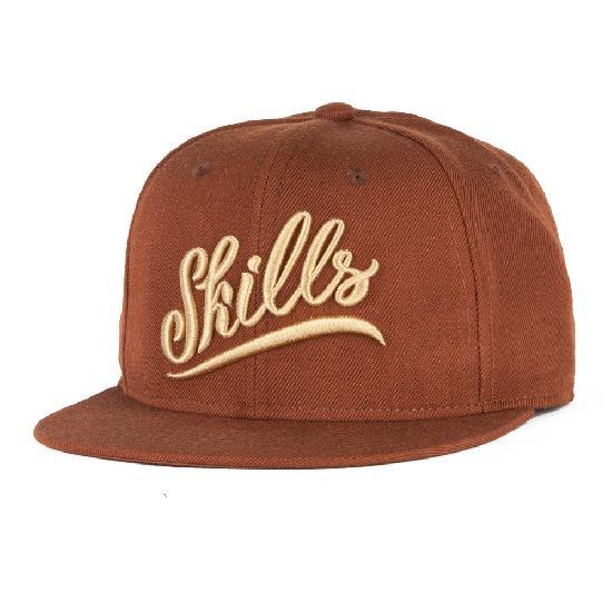 Бейсболка SKILLS 02 (Коричневый (Brown), O/S)