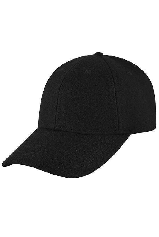 Бейсболка классическая/ 16028 Шерстяная кепка / чёрный