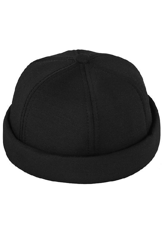 Бейсболка без козырька / Your Number / 17044 Docker Cap / чёрный