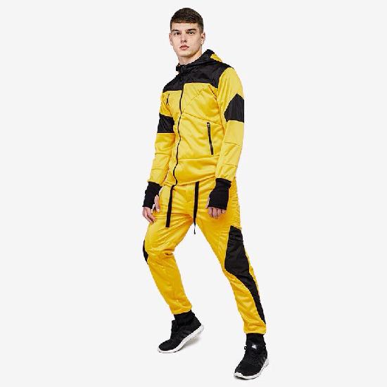 Костюм спортивный М№0701 желтый