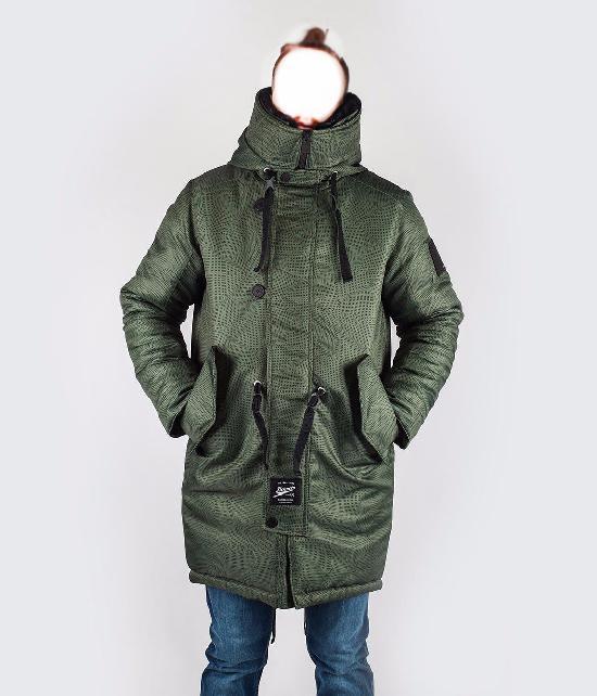Куртка мужская Bio_Connection 605-1 принт хаки/точка