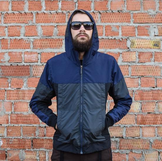 Куртка мужская IGAN М№0402 сине-серо-черные