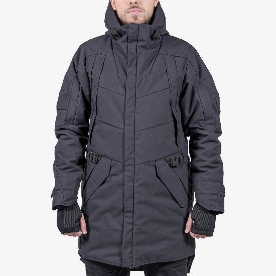 Удлиненная зимняя куртка  IGAN ID0506 черная