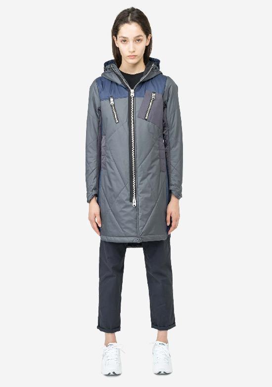 Длинная стёганая куртка KRAKATAU Qw182/2 WEFO