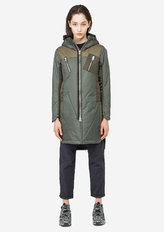 Длинная стёганая куртка KRAKATAU Qw182/5 WEFO