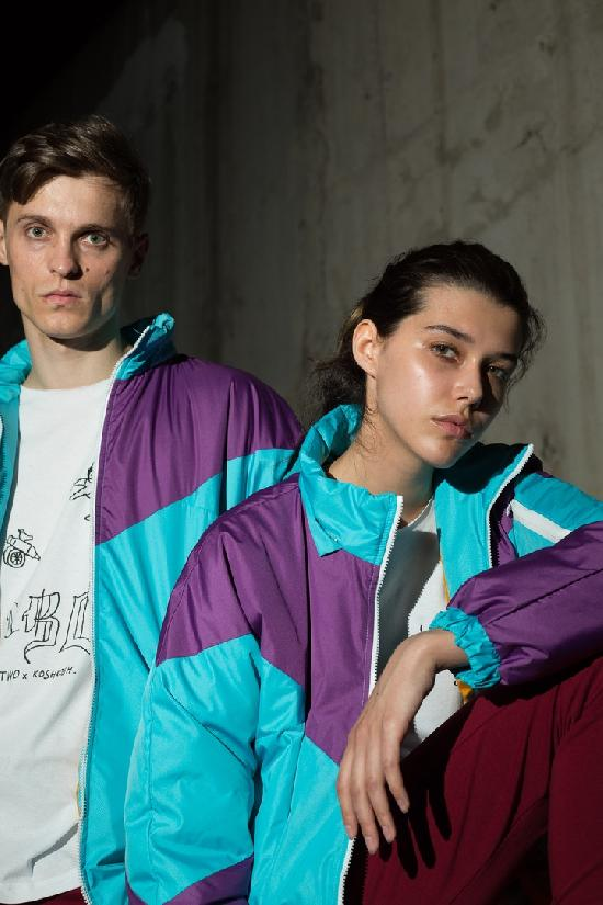 Куртка / ONE TWO / Олимпийка 4.0, бирюза-фиолет, (2-7)