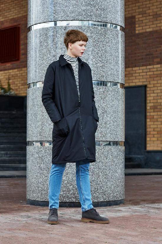 Куртка ONE TWO ((Чёрная) Утепленная)