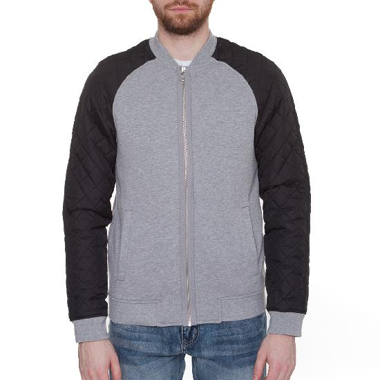 Куртка URBAN CLASSICS Diamond Nylon Sweatjacket (Grey/Black)