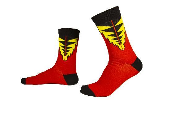 Носки SOCKS positive (Треугольники №023) Красный  O/S