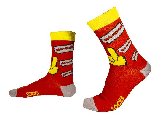 Носки SOCKS positive (Лезвия №038) Красный  O/S
