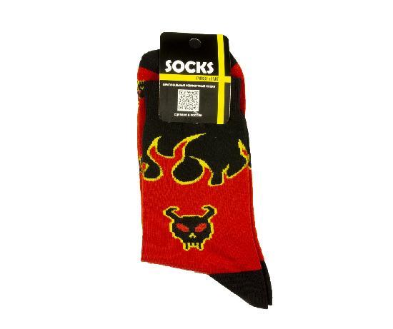 Носки SOCKS positive (Адское Пламя №005) Красный O/S