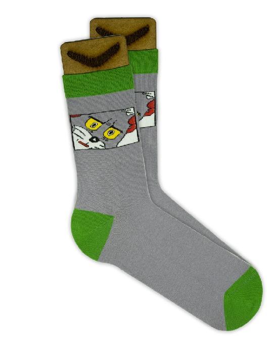 Носки SOCKS positive (Кот Том N043) Серый O/S