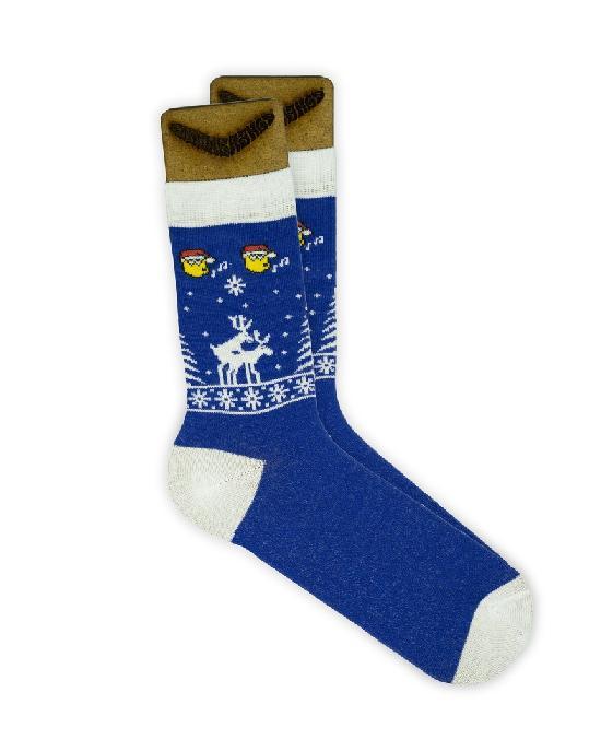 Носки SOCKS positive (Новогодние № G014) синие O/S