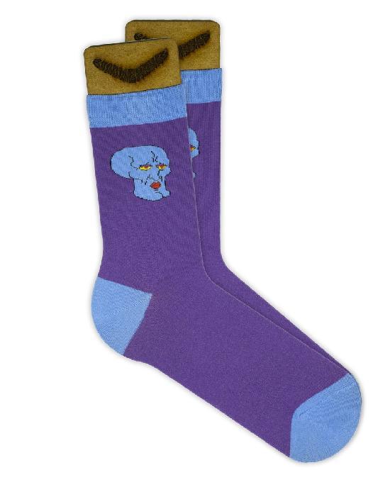 Носки SOCKS positive (Сквидвард N057) Фиолетовый O/S