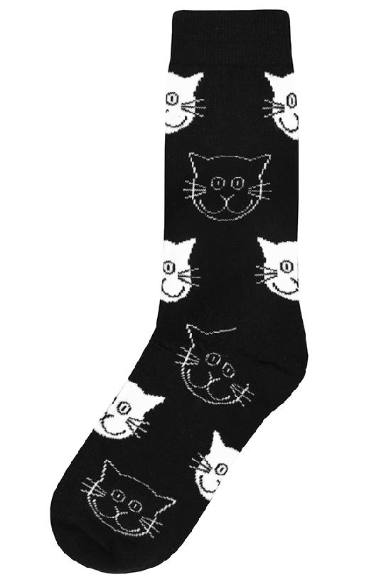Носки / Idea Sox / Хитрые коты / чёрно-белый /  (One size)